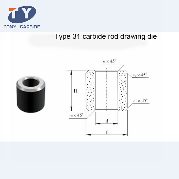 31 Type Carbide Rod Drawing Die